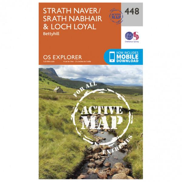 Ordnance Survey - Strath Naver / Strath Nabhair / Loch Loyal Waterproof - Vandrekort