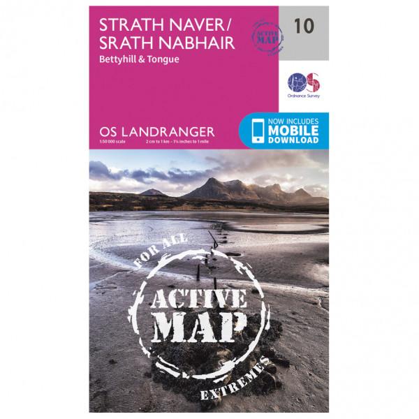 Ordnance Survey - Strath Naver Waterproof LA010 - Wanderkarte