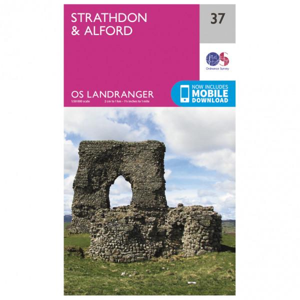 Ordnance Survey - Strathdon / Alford - Wanderkarte