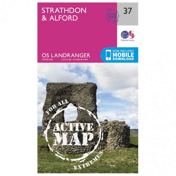 Ordnance Survey - Strathdon / Alford Waterproof - Hiking map