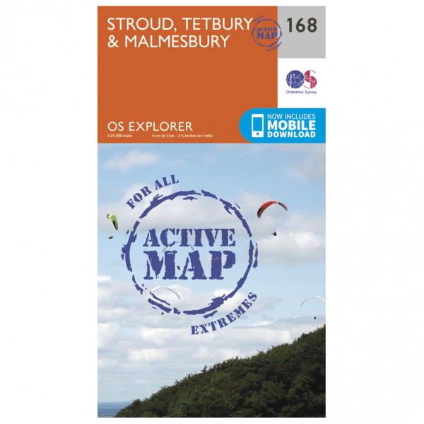 Ordnance Survey - Stroud / Tetbury / Malmesbury Waterproof - Vandrekort