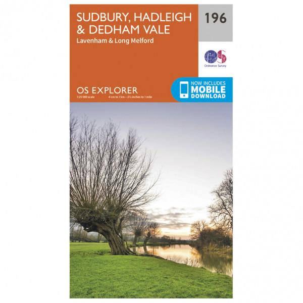 Ordnance Survey - Sudbury / Hadleigh / Dedham Vale - Vandrekort