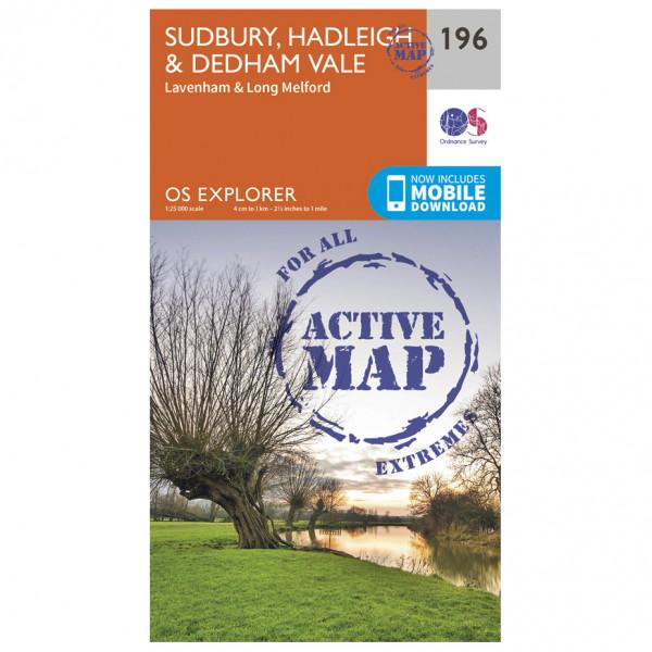 Ordnance Survey - Sudbury / Hadleigh / Dedham Vale Waterproof - Carte de randonnée