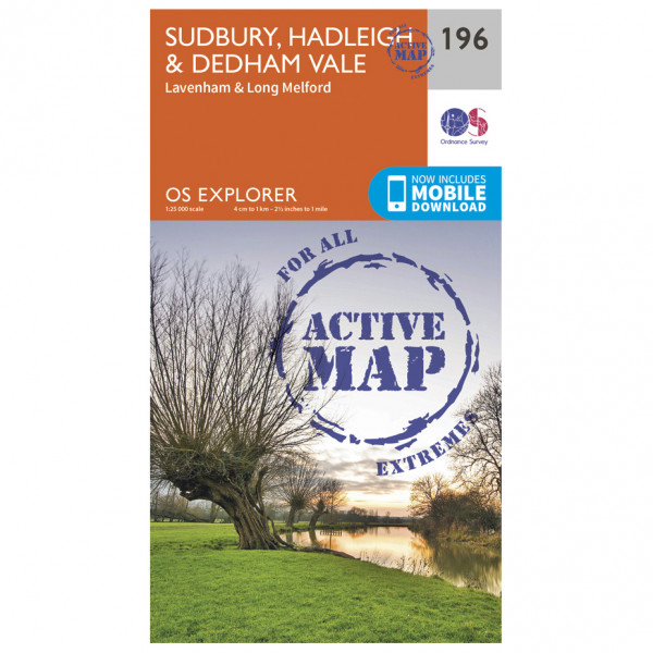 Ordnance Survey - Sudbury / Hadleigh / Dedham Vale Waterproof - Hiking map