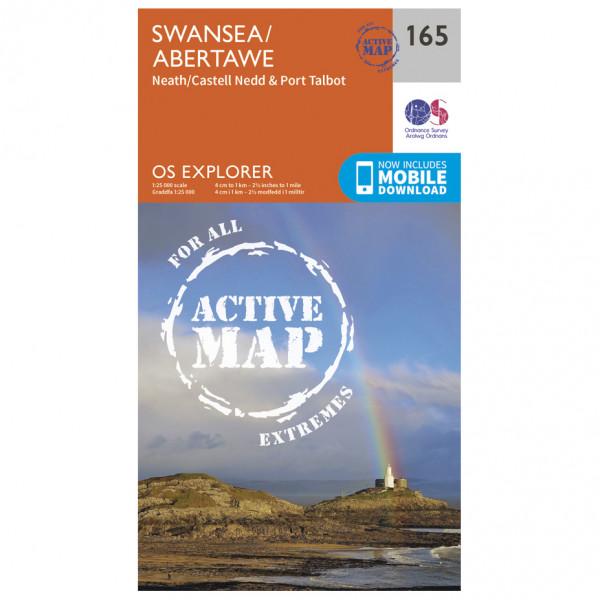 Ordnance Survey - Swansea / Abertawe Waterproof - Vandrekort