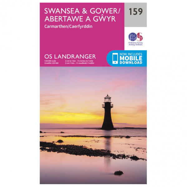 Ordnance Survey - Swansea / Gower - Hiking map