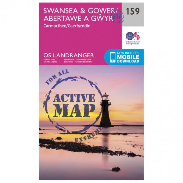 Ordnance Survey - Swansea / Gower / Carmarthen Waterproof - Hiking map