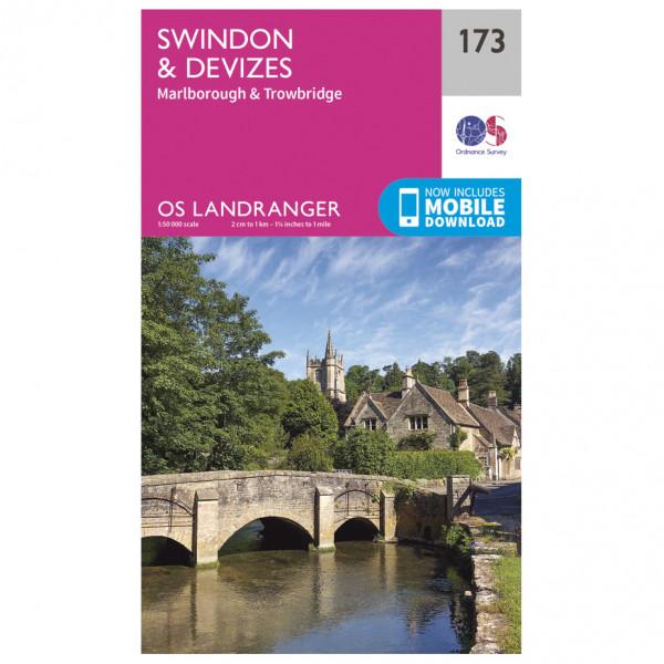 Ordnance Survey - Swindon / Devizes / Marlborough / Trowbridge - Hiking map