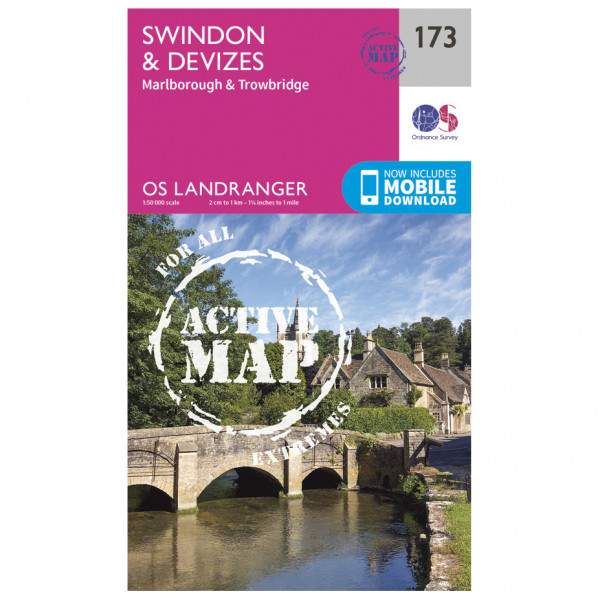 Ordnance Survey - Swindon / Devizes / Marlborough Waterproof - Hiking map