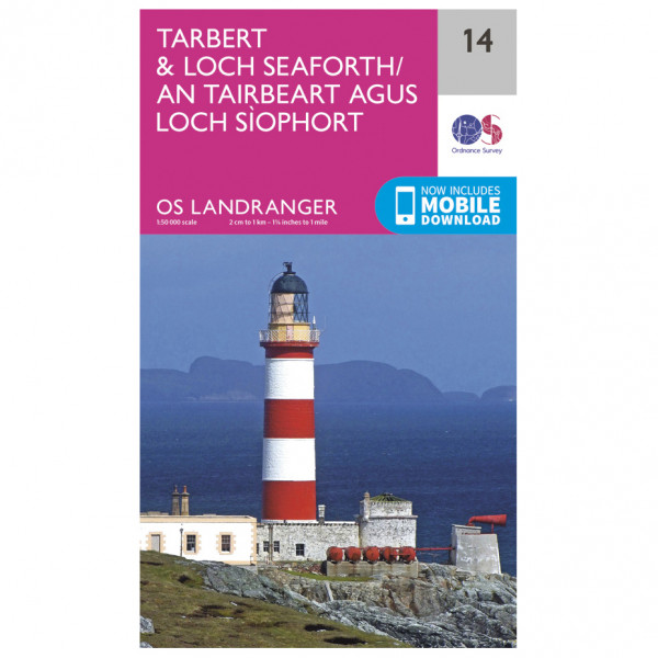 Ordnance Survey - Tarbert / Loch Seaforth - Hiking map