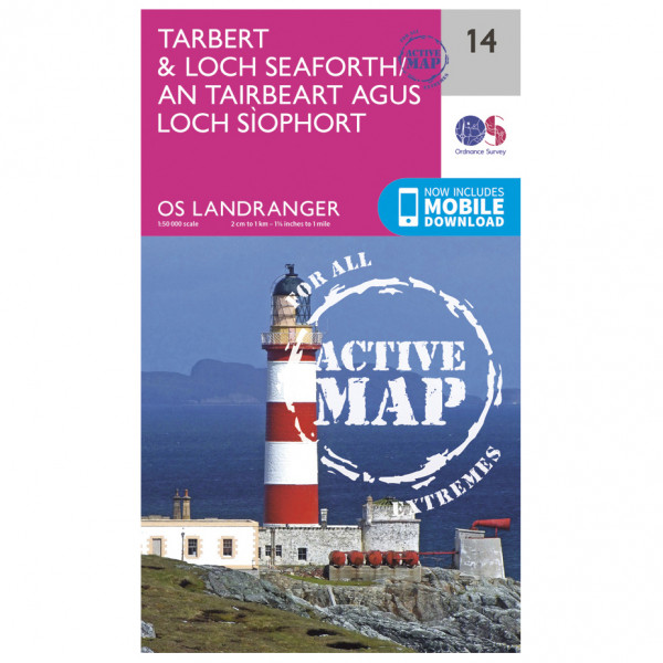 Ordnance Survey - Tarbert / Loch Seaforth Waterproof - Vandringskartor