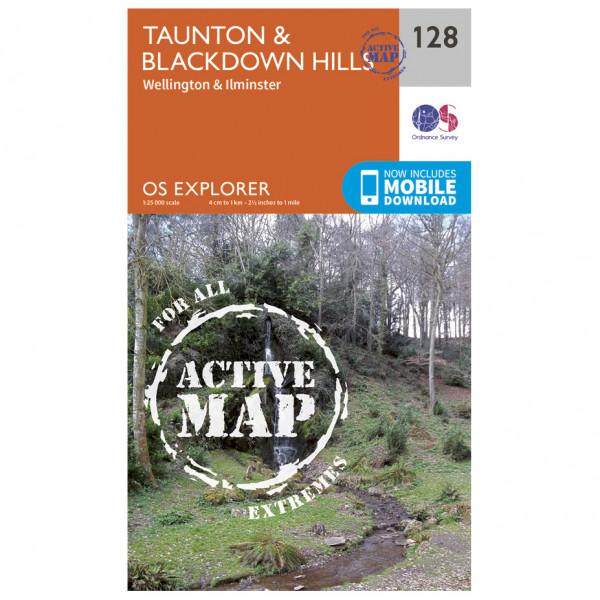 Ordnance Survey - Taunton / Blackdown Hills Waterproof - Vaelluskartat