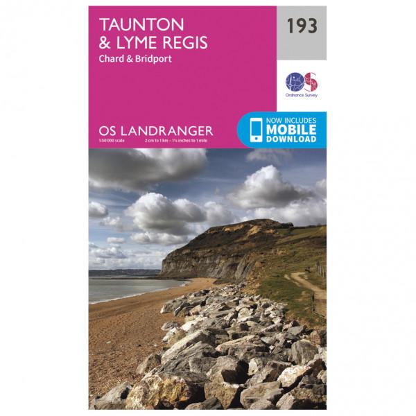 Ordnance Survey - Taunton / Lyme Regis - Hiking map