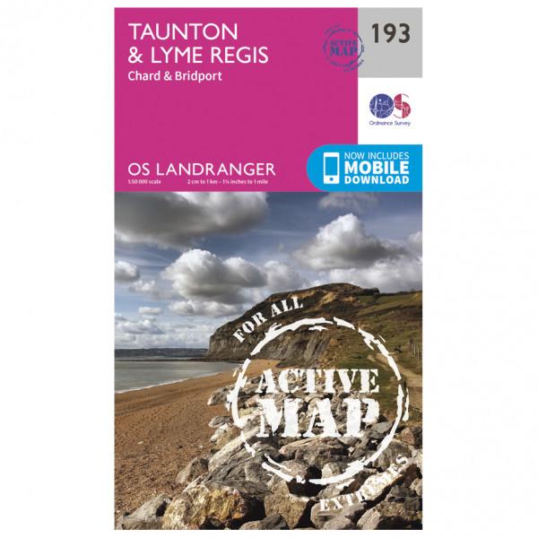 Ordnance Survey - Taunton / Lyme Regis / Chard Waterproof - Vandringskartor