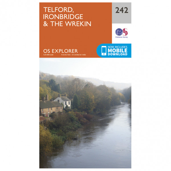 Ordnance Survey - Telford / Ironbridge / The Wrekin EXP242 - Wanderkarte