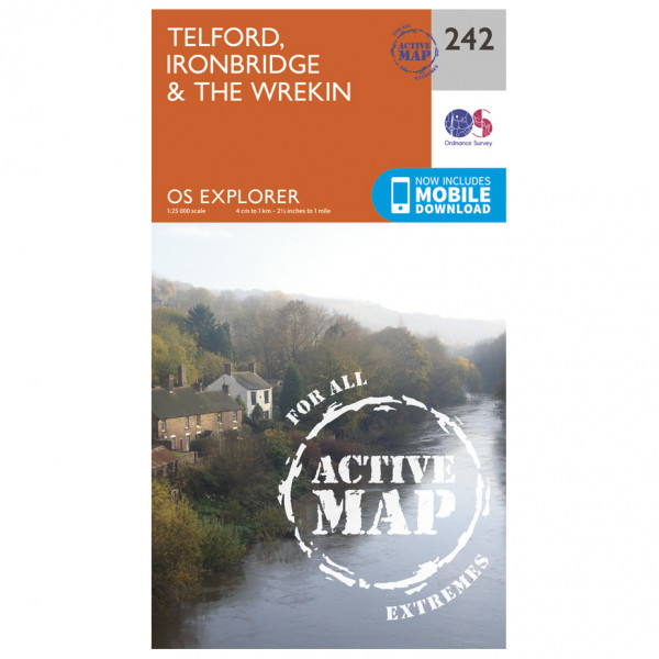 Ordnance Survey - Telford / Ironbridge / The Wrekin Waterproof - Vandrekort