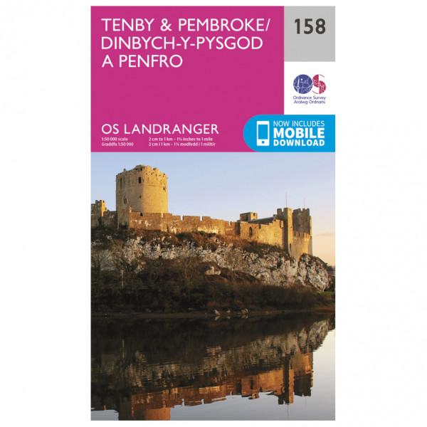 Ordnance Survey - Tenby / Pembroke - Vaelluskartat