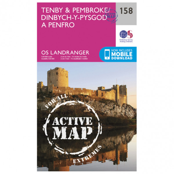 Ordnance Survey - Tenby / Pembroke Waterproof - Hiking map