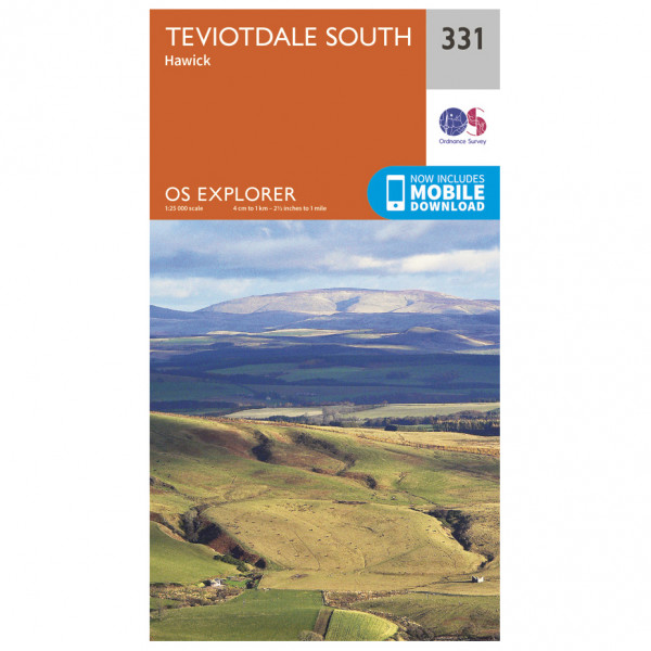 Ordnance Survey - Teviotdale South EXP331 - Wanderkarte