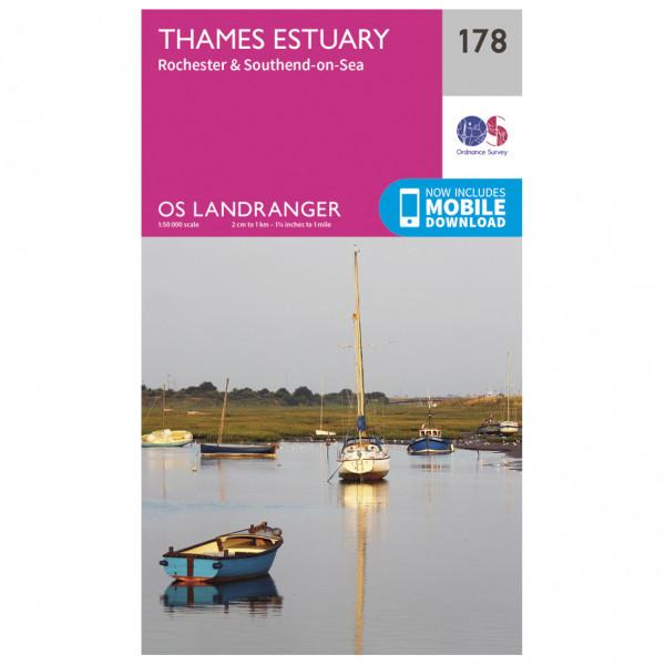Ordnance Survey - Thames Estuary - Wandelkaarten