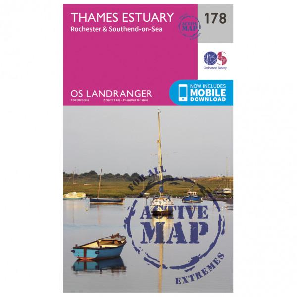 Ordnance Survey - Thames Estuary / Rochester Waterproof - Hiking map