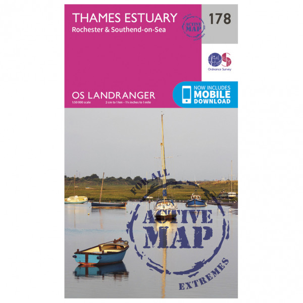 Ordnance Survey - Thames Estuary / Rochester Waterproof - Wandelkaarten