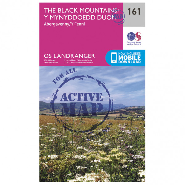 Ordnance Survey - The Black Mountains Waterproof - Hiking map