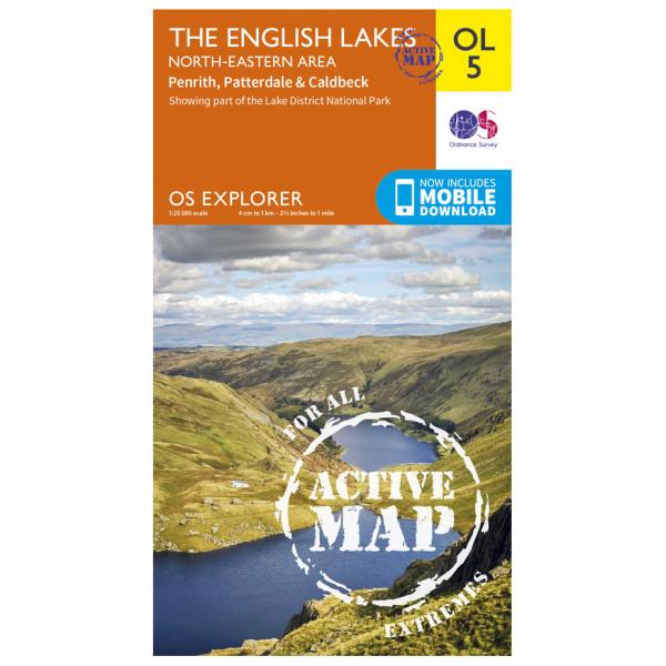 Ordnance Survey - The English Lakes / North-Eastern Area Waterproof - Vaelluskartat