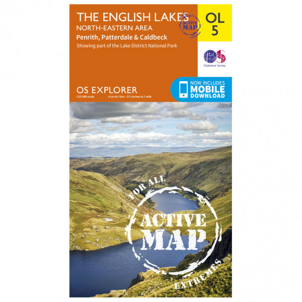 Ordnance Survey - The English Lakes / North-Eastern Area Waterproof - Wandelkaarten