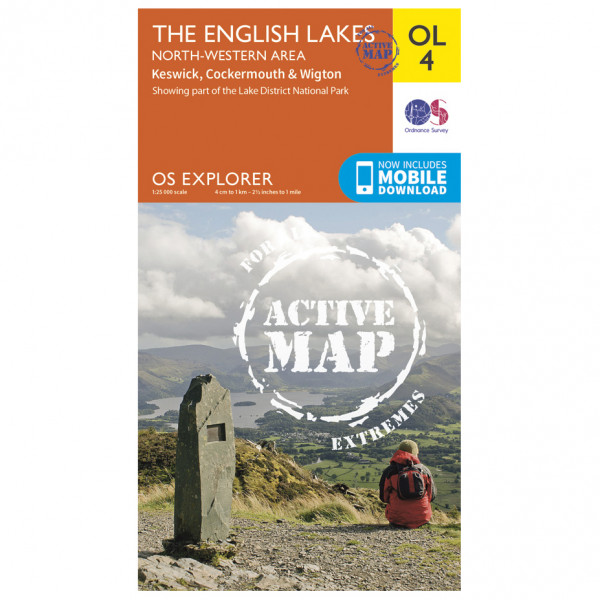 Ordnance Survey - The English Lakes / North-Western Area Waterproof - Hiking map