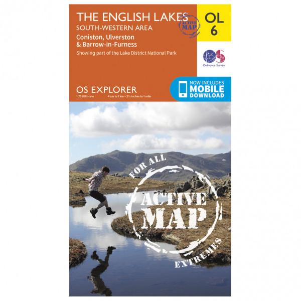 Ordnance Survey - The English Lakes / South Western Area Waterproof - Vaelluskartat