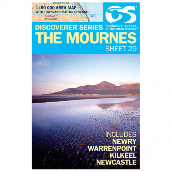 Ordnance Survey - The Mournes - Hiking map