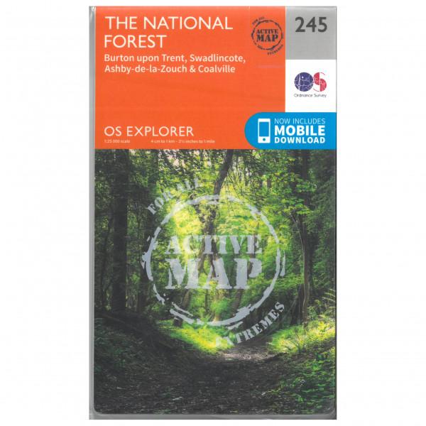 Ordnance Survey - The National Forest Waterproof - Wandelkaart
