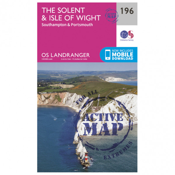 Ordnance Survey - The Solent / The Isle Of Wight Waterproof - Hiking map