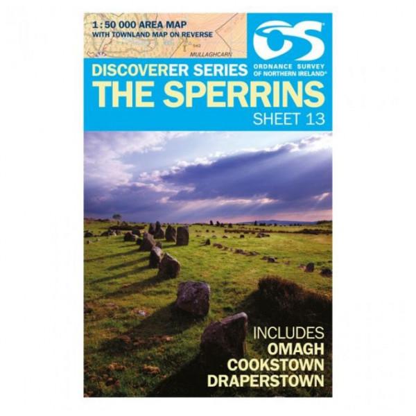 Ordnance Survey - The Sperrins - Vandrekort