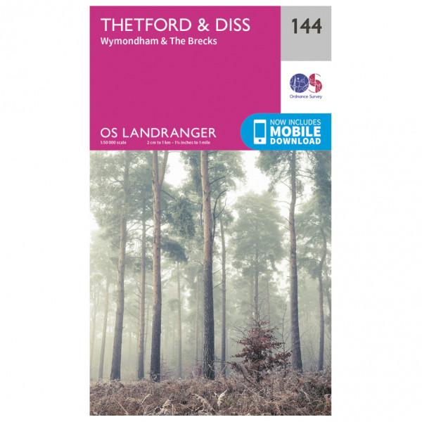 Ordnance Survey - Thetford / Diss / Breckland / Wymondham L144 - Wanderkarte