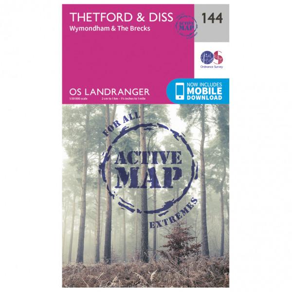 Ordnance Survey - Thetford / Diss / Breckland / Wymondham Waterproof - Turkart