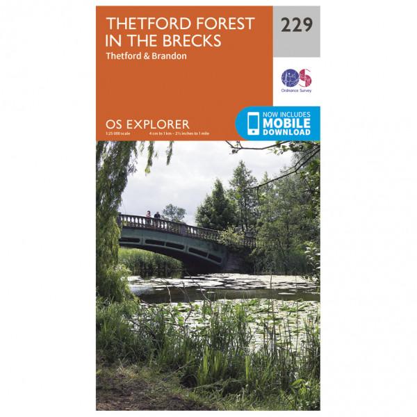 Ordnance Survey - Thetford Forest In The Brecks / Thetford & Brandon - Wandelkaarten