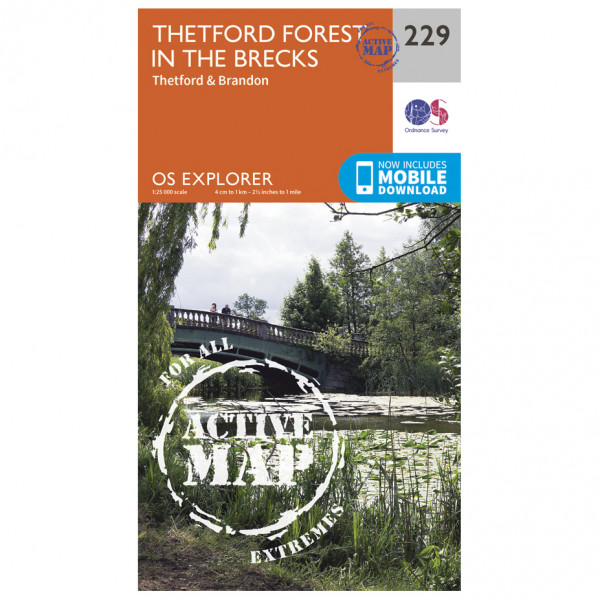 Ordnance Survey - Thetford Forest In The Brecks Waterproof - Vandrekort