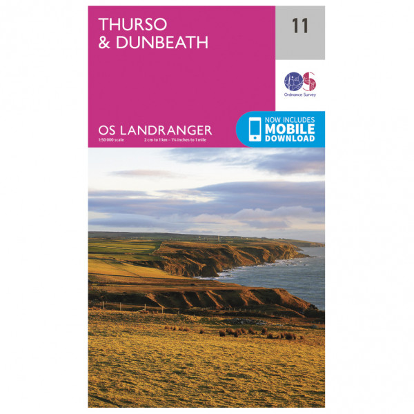 Ordnance Survey - Thurso / Dunbeath - Hiking map