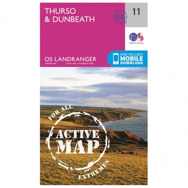 Ordnance Survey - Thurso / Dunbeath Waterproof - Hiking map