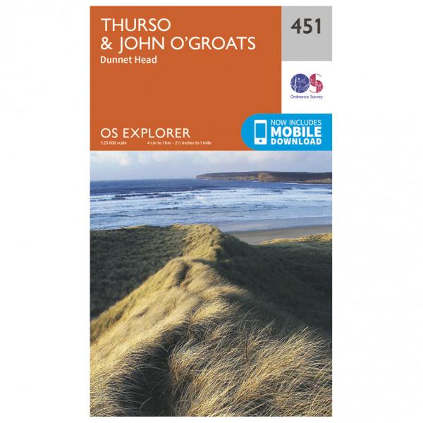 Ordnance Survey - Thurso / John O' Groats - Vandringskartor