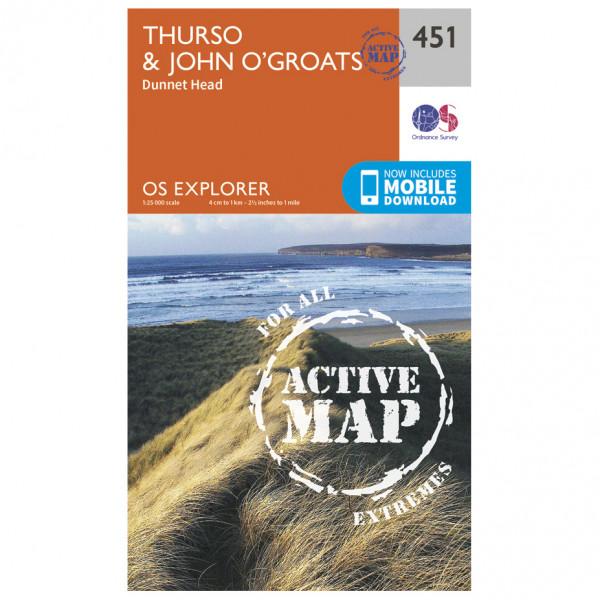 Ordnance Survey - Thurso / John O'Groats Waterproof - Vandringskartor