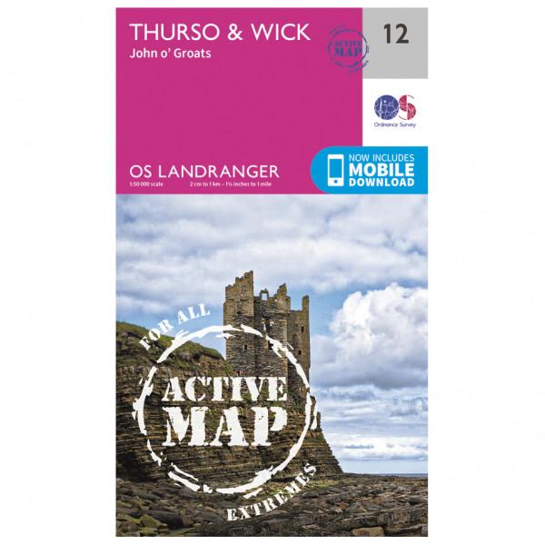 Ordnance Survey - Thurso/ Wick Waterproof - Wandelkaart