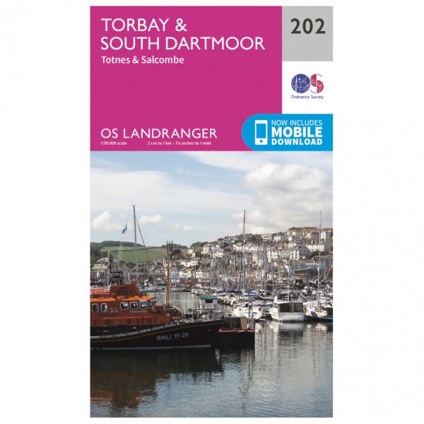 Ordnance Survey - Torbay / South Dartmoor - Vandrekort