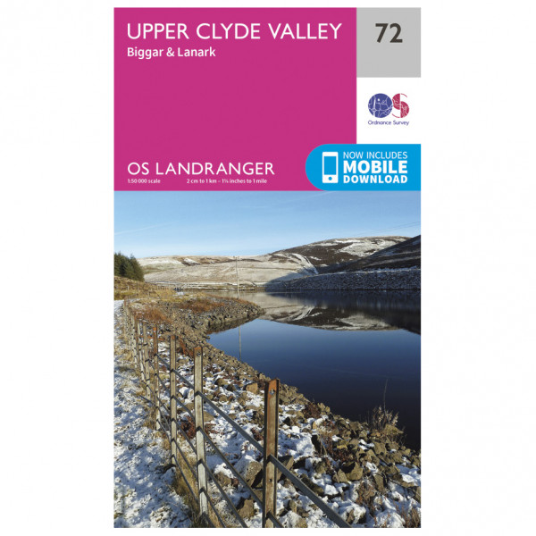 Ordnance Survey - Upper Clyde Valley - Hiking map