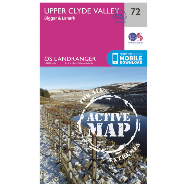 Ordnance Survey - Upper Clyde Valley Waterproof - Mapa de senderos