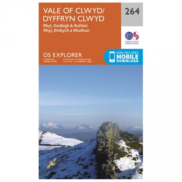 Ordnance Survey - Vale Of Clwyd / Dyffryn Clwyd - Hiking map