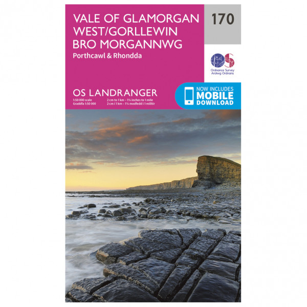 Ordnance Survey - Vale Of Glamorgan - Vandrekort