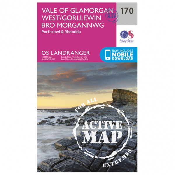 Ordnance Survey - Vale Of Glamorgan / Rhondda Waterproof - Wandelkaarten